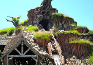 the drop on splash mountain